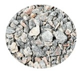 Middle fraction of crushed stones material texture
