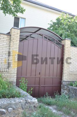 Фото ворот из металлического листа