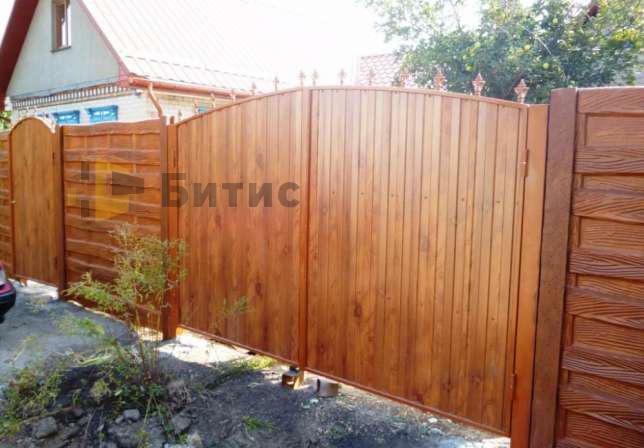 Фото ворот + покраска+мелкие кованые элементы
